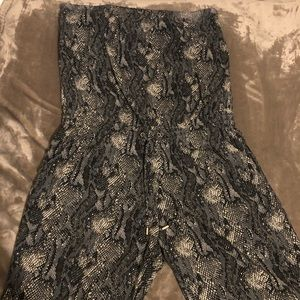 Snakeskin Print Jumpsuit from express